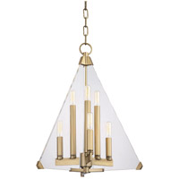 Hudson Valley 3336-AGB Triad 6 Light 18 inch Aged Brass Pendant Ceiling Light