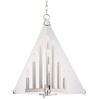 Triad 9 Light 24 inch Polished Nickel Pendant Ceiling Light
