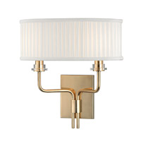 Hudson Valley Lighting Gorham 2 Light Wall Sconce in Aged Brass 3352-AGB