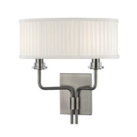 Hudson Valley Lighting Gorham 2 Light Wall Sconce in Historic NIckel 3352-HN