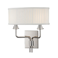 Hudson Valley Lighting Gorham 2 Light Wall Sconce in Polished Nickel 3352-PN