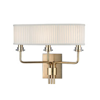 Hudson Valley Lighting Gorham 3 Light Wall Sconce in Aged Brass 3353-AGB