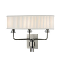 Hudson Valley Lighting Gorham 3 Light Wall Sconce in Historic Nickel 3353-HN