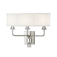 Hudson Valley Lighting Gorham 3 Light Wall Sconce in Polished Nickel 3353-PN