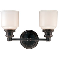 Windham 2 Light 14 inch Old Bronze Bath And Vanity Wall Light