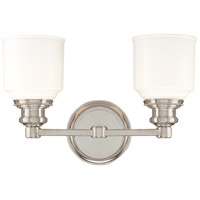 Windham 2 Light 14 inch Polished Nickel Bath And Vanity Wall Light