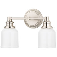 Windham 2 Light 14 inch Satin Nickel Bath And Vanity Wall Light