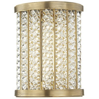 Shelby LED 7 inch Aged Brass Bath Wall Light in 8 in.