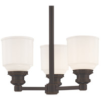 Windham 3 Light 15 inch Old Bronze Semi Flush Ceiling Light