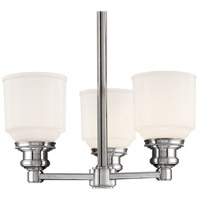 Windham 3 Light 15 inch Polished Nickel Semi Flush Ceiling Light