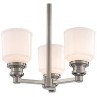 Windham 3 Light 15 inch Satin Nickel Semi Flush Ceiling Light