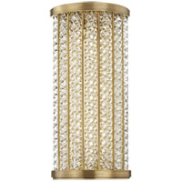 Shelby LED 7 inch Aged Brass Bath Wall Light in 14 in.