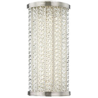 Shelby LED 7 inch Polished Nickel Bath Wall Light in 14 in.