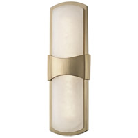 Valencia LED 5 inch Aged Brass ADA Wall Sconce Wall Light, Spanish Alabaster