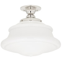 Petersburg 1 Light 16 inch Polished Nickel Semi Flush Ceiling Light