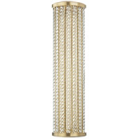 Shelby LED 7 inch Aged Brass Bath Wall Light in 25 in.