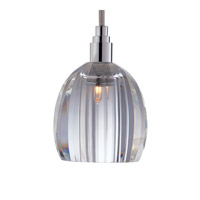 Hudson Valley Lighting Naples 1 Light Pendant in Polished Chrome with Silver Cord 3506-PC-S-004