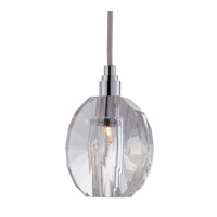 Hudson Valley Lighting Naples 1 Light Pendant in Polished Chrome with Silver Cord 3506-PC-S-005