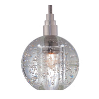 Hudson Valley Lighting Naples 1 Light Pendant in Satin Nickel with Silver Cord 3506-SN-S-001