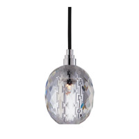 Hudson Valley Lighting Naples 1 Light Pendant in Polished Chrome with Black Cord 3511-PC-B-002