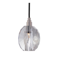 Naples 1 Light 4 inch Satin Nickel with Black Cord Pendant Ceiling Light