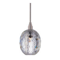 Naples 1 Light 4 inch Satin Nickel with Silver Cord Pendant Ceiling Light in Clear Prismatic, 002