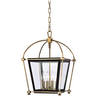Hudson Valley 3612-AGB Hollis 4 Light 13 inch Aged Brass Pendant Ceiling Light