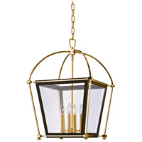 Hudson Valley 3618-AGB Hollis 4 Light 18 inch Aged Brass Pendant Ceiling Light