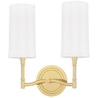 Hudson Valley 362-AGB Dillon 2 Light 12 inch Aged Brass Wall Sconce Wall Light