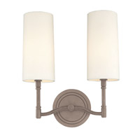 Dillon 2 Light 12 inch Antique Nickel Wall Sconce Wall Light
