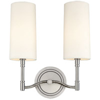 Dillon 2 Light 12 inch Polished Nickel Wall Sconce Wall Light