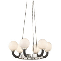 Hudson Valley 3636-PN/BK Werner 6 Light 35 inch Polished Nickel / Black Pendant Ceiling Light