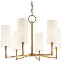 Hudson Valley 366-AGB Dillon 6 Light 25 inch Aged Brass Chandelier Ceiling Light