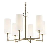 Hudson Valley Lighting Dillion 6 Light Chandelier in Antique Nickel 366-AN