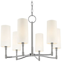Hudson Valley 366-PN Dillon 6 Light 25 inch Polished Nickel Chandelier Ceiling Light