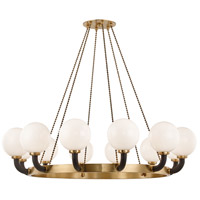 Hudson Valley 3660-AGB/BK Werner 12 Light 61 inch Aged Brass / Black Pendant Ceiling Light