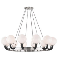 Hudson Valley 3660-PN/BK Werner 12 Light 61 inch Polished Nickel / Black Pendant Ceiling Light