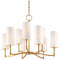 Hudson Valley 369-AGB Dillon 9 Light 30 inch Aged Brass Chandelier Ceiling Light