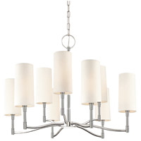 Hudson Valley 369-PN Dillon 9 Light 30 inch Polished Nickel Chandelier Ceiling Light