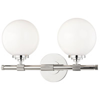 Hudson Valley 3702-PN Bowery 2 Light 15 inch Polished Nickel Bath Bracket Wall Light