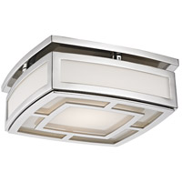 Elmore LED 10 inch Polished Nickel Flush Mount Ceiling Light, Small