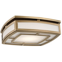 Hudson Valley 3713-AGB Elmore LED 13 inch Aged Brass Flush Mount Ceiling Light, Large