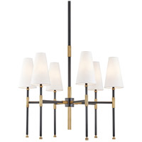 Hudson Valley 3728-AOB Bowery 6 Light 28 inch Aged Old Bronze Chandelier Ceiling Light