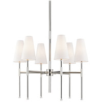 Hudson Valley 3728-PN Bowery 6 Light 28 inch Polished Nickel Chandelier Ceiling Light
