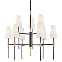 Hudson Valley 3734-AOB Bowery 9 Light 34 inch Aged Old Bronze Chandelier Ceiling Light