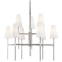 Hudson Valley 3734-PN Bowery 9 Light 34 inch Polished Nickel Chandelier Ceiling Light