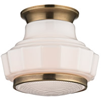 Hudson Valley Lighting Odessa 1 Light Flush Mount in Aged Brass 3809F-AGB