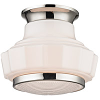 Odessa 1 Light 9 inch Polished Nickel Flush Mount Ceiling Light
