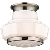 Odessa 1 Light 9 inch Satin Nickel Flush Mount Ceiling Light