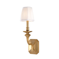 Hudson Valley Lighting Arlington 1 Light Wall Sconce in Aged Brass 381-AGB